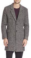 Ami Wool & Mohair Blend Herringbone Coat