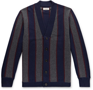 J.Crew Wallace & Barnes Striped Boiled Merino Wool Cardigan