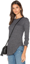 Wilt Twist Hem Crew Neck Long Sleeve Top