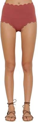 Marysia Swim Santa Monica High Waisted Bikini Bottoms