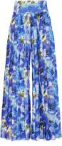 Balmain Floral-print silk-chiffon wide-leg pants