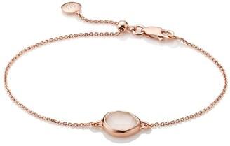 Monica Vinader Siren Fine Chain Rose Quartz bracelet