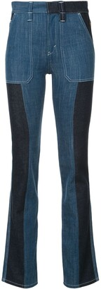 Chloé Panelled Boot-Cut Jeans