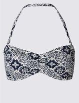 Marks and Spencer Tile Print Bandeau Bikini Top