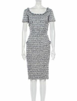 Oscar de la Renta 2012 Knee-Length Dress Blue