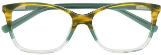 M Missoni Tortoiseshell Rectangular-Frame Glasses