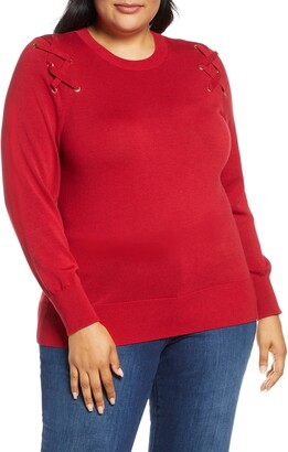 MICHAEL Michael Kors Laced Up Sweater