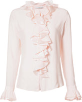 Tome 'Charmeuse Longsleeved Ruffled' shirt - women - Silk - 4