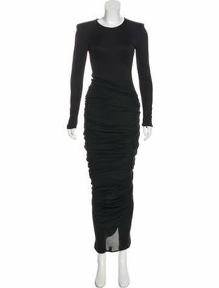 Giambattista Valli Long Sleeve Evening Dress Black