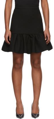 MSGM Black Ruffle Skirt