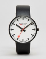 Mondaine Giant Watch In Black/Black 42mm