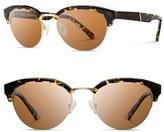 Shwood Women's 'Hayden' 53Mm Acetate & Wood Sunglasses - Dark Speckle/ Gold/ Brown