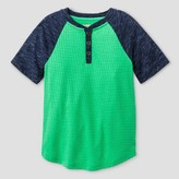 Cat & Jack Boys' Henley Shirt Cat & Jack - Green