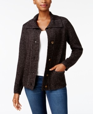 Karen Scott Button-Front Cardigan, Created for Macy's