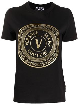 Versace Jeans Couture Gold Foil V-Emblem Print T-shirt