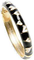Betsey Johnson Black and White Heart Skinny Bangle Bracelet