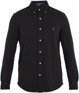 Polo Ralph Lauren Mesh-knit cotton oxford shirt