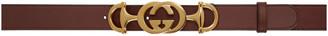 Gucci Burgundy Horsebit GG Belt