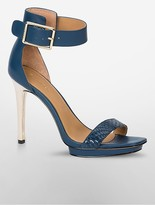 Calvin Klein Vable Colorblock Snake Sandal