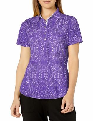 Cutter & Buck Women's Moisture Wicking Drytec 50+ UPF Allegra Print Polo Shirt