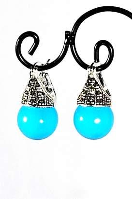 Italian Ice Turquoise Ball Earrings