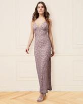 Le Château Sparkle Lace V-Neck Gown