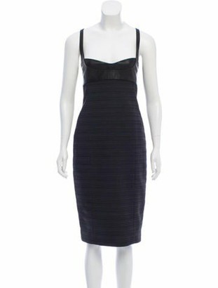 Narciso Rodriguez 2017 Tweed Jacquard Dress Black