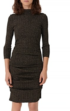 Maje Rimaldie Knit Short Dress