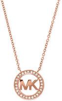 Michael Kors Pavé Logo Pendant Necklace