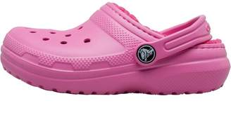Crocs Girls Classic Fuzz Lined Clogs Party Pink/Candy Pink
