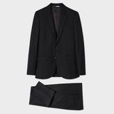 Paul Smith Men's Mid-Fit Black Wool Suit