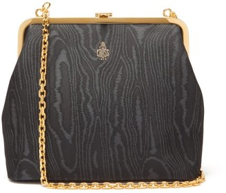 Mark Cross Susanna Moire Clutch Bag - Black