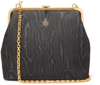 Mark Cross Susanna Moire Clutch Bag - Womens - Black