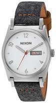 Nixon Women's 'Jane Leather' Quartz Metal and Cloth Automatic Watch, Color:Grey (Model: A9552476-00)