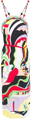 Emilio Pucci Bead-embellished Printed Jersey Dress