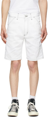 Carhartt Work In Progress White Penrod Shorts