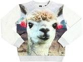 Molo Lama Print Cotton Jersey Sweatshirt