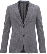 Etro Diamond-jacquard Cotton-blend Blazer - Mens - Blue