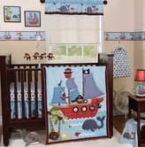 Bedtime Originals 4 Pc Lambs & Ivy Treasure Island Boys Baby Crib Set with Bumper