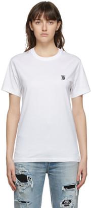 Burberry White TB Monogram Parker T-Shirt