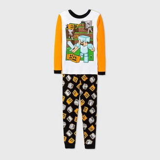 Minecraft Boys' Halloween 2pc Pajama Set - Orange/Black