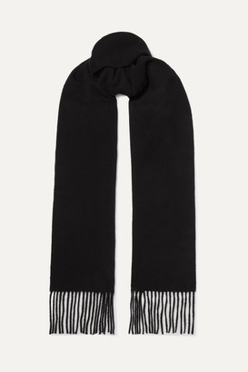 Acne Studios Fringed Wool Scarf - Black