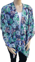 Blue Floral Kimono - Plus