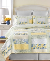 Martha Stewart Collection Collection Blue & Yellow Patchwork Posey King Quilt