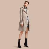 Burberry Resin Button Cotton Gabardine Trench Coat