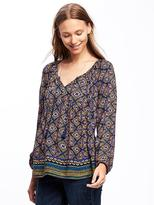 Old Navy Boho Tassel-Tie Blouse for Women