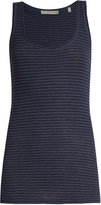 Vince Striped pima-cotton jersey tank top