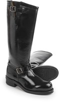 """Chippewa Polishable Motorcycle Trooper Boots- Leather, Steel Toe, 17"""" (For Men)"""