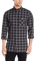 Zanerobe Men's Plaid 7 Foot Tall Long Sleeve Button Down Shirt