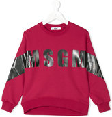 MSGM logo print sweatshirt - kids - Cotton - 4 yrs